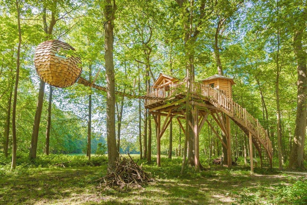 法國拉賴鎮,禪意水療空中木屋。 Airbnb /提供