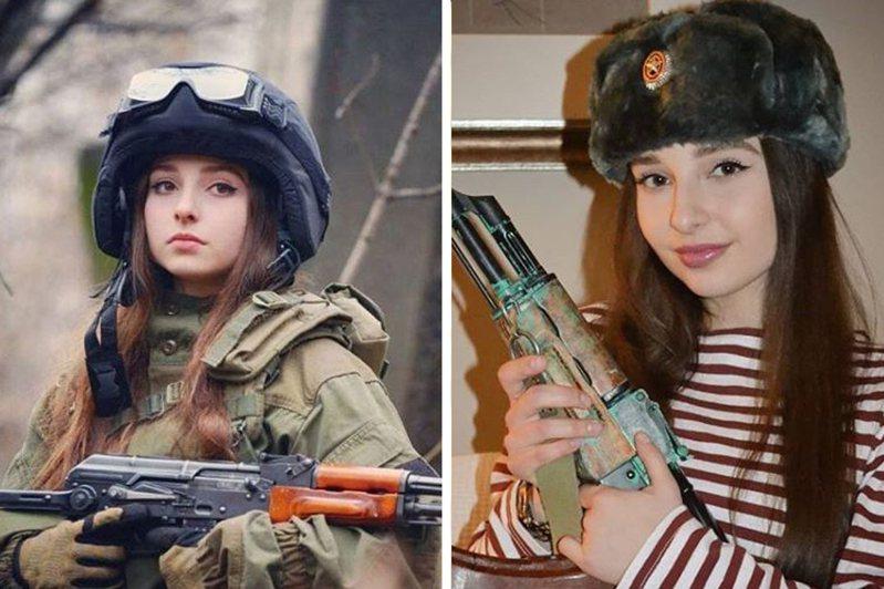 俄羅斯美女如雲,就連女兵顏質也很高,圖為在IG享有超高人氣的俄羅斯女兵伊蕾娜(Elena Deligioz),非新聞當事人。 圖擷自IG「_elena_deligioz_official_」