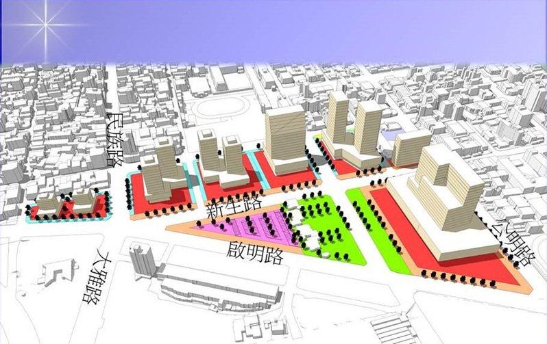 嘉義市建國二村目前為停車場,未來發展為商業區。圖/嘉義市府提供