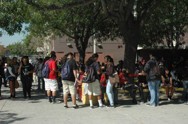 洛杉磯學區宣布緊急狀態隨時可以關閉校園。 報系資料照