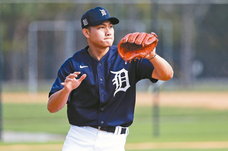 老虎官網預測開季30人名單,台灣投手江少慶被喻為「外卡」,有機會成史上第17位站上大聯盟的台灣球員。 美聯社
