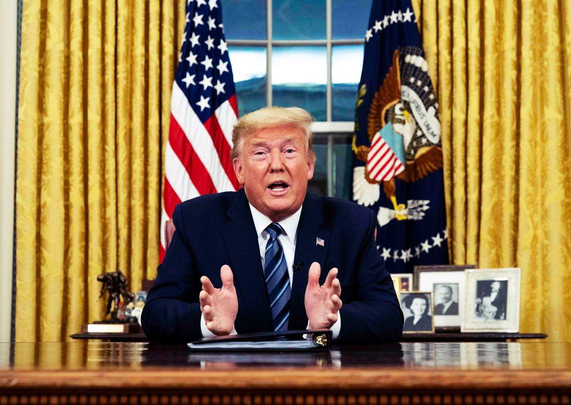 美國總統川普11日晚間發布緊急演說,宣布從3月13日開始,美國將「封關歐洲30天...