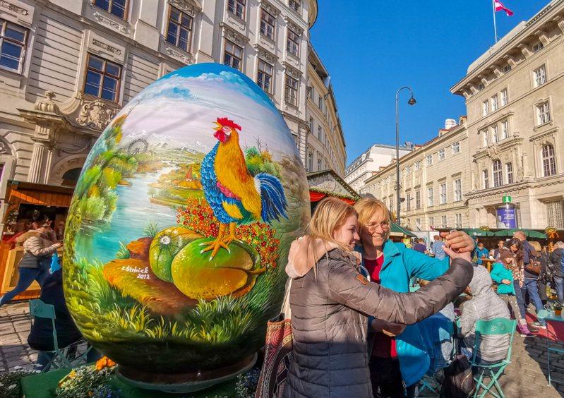 圖為奧地利維也納的復活節市場。 新華社