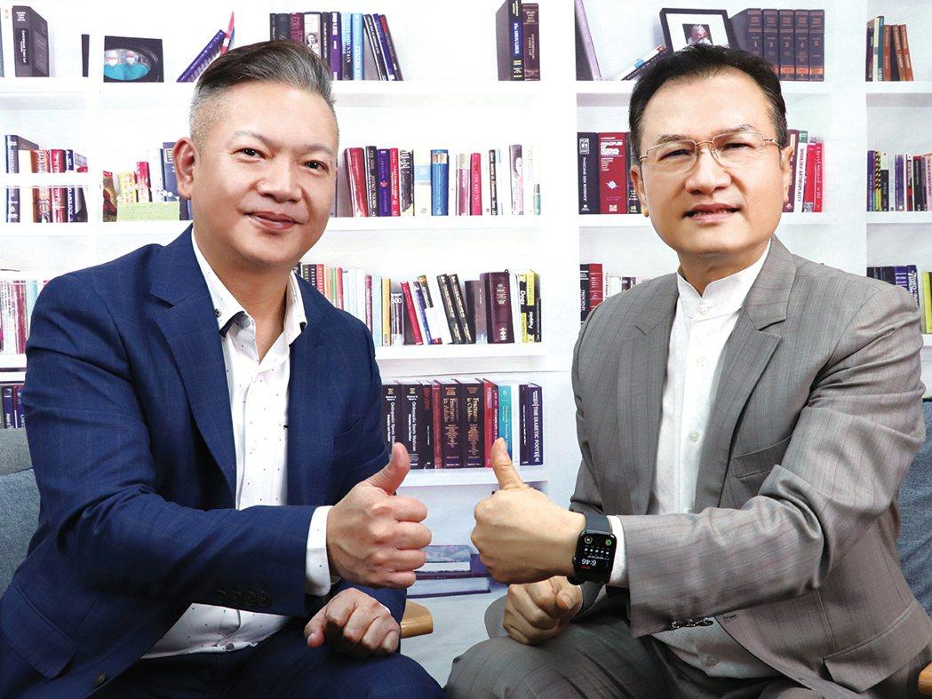理財周刊發行人洪寶山(右)、趙建凱(左)