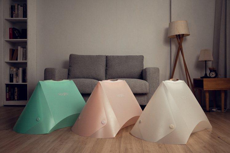 Vogito好日照UV殺菌折疊罩,共有原石白、芭蕾粉、馬卡綠三種顏色。圖/Vog...