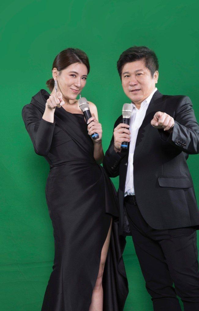 胡瓜跟小禎新節目宣傳照曝光。圖/中天提供