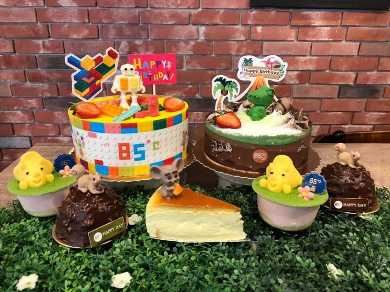 85℃推五款超萌系列蛋糕。圖/85℃提供