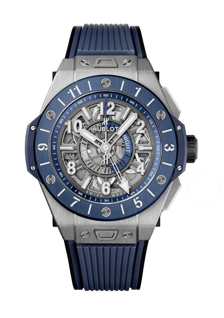 HUBLOT BIG BANG UNICO GMT兩地時區腕表,45毫米鈦金屬表...