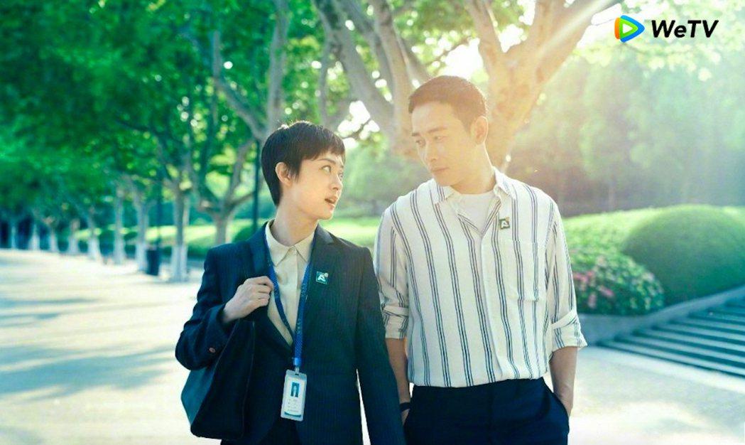 羅晉(右)第一次和孫儷合作,兩人擦出很多火花。圖/WeTV提供