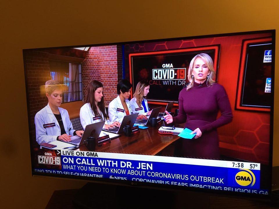 美國晨間節目找來醫師團隊,回覆觀眾對於新冠肺炎的問題。記者蘇詠智/翻攝自ABC