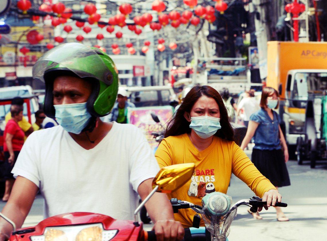 馬尼拉的中國城。 圖/法新社