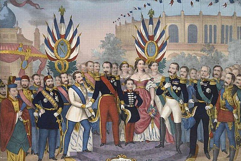 拿破崙三世與1867年巴黎世界博覽會。 圖/維基共享
