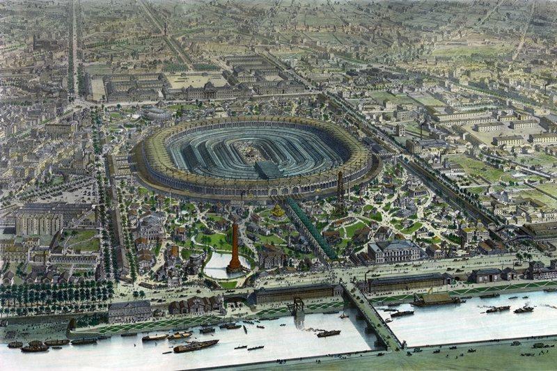1867年,拿破崙三世為了展示法蘭西的經濟成就,在練兵場舉辦第二屆巴黎世博會。 圖/維基共享