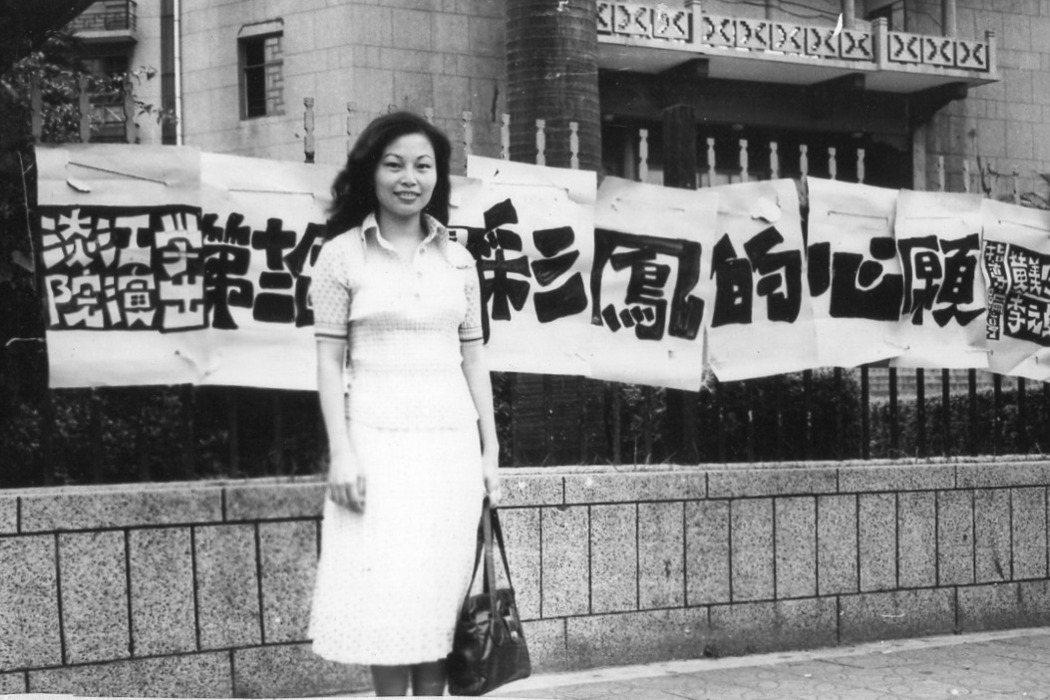 曾心儀在台北市南海路藝術館。 圖/狂飆一夢、曾心儀提供