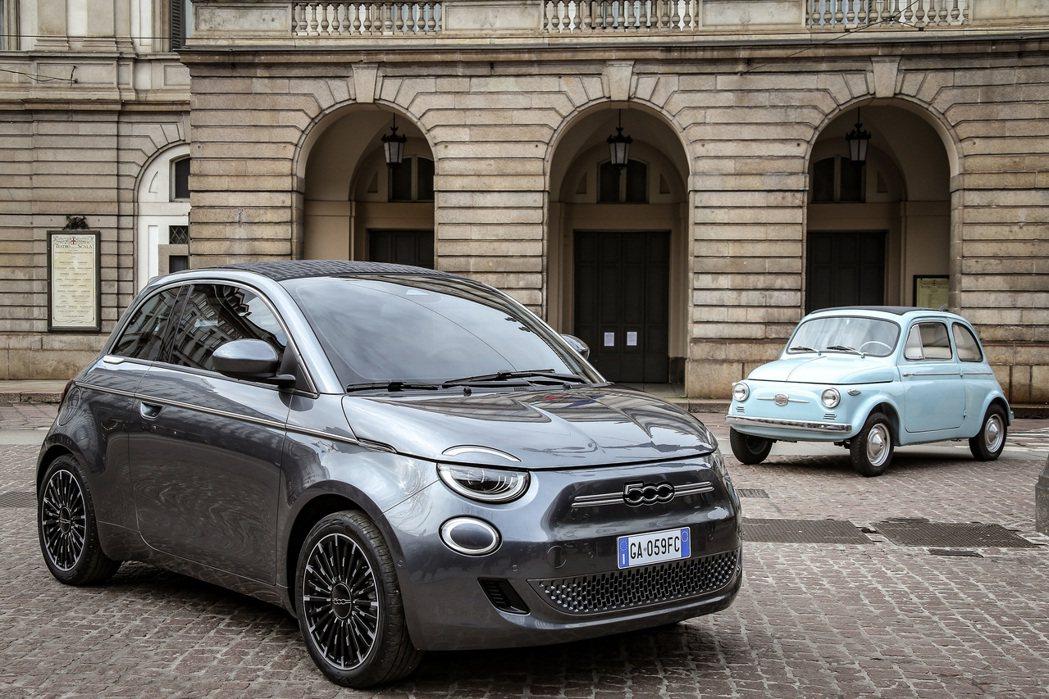 義式經典小車Fiat 500,在新世代車型上化身為零排放車款。 摘自Fiat