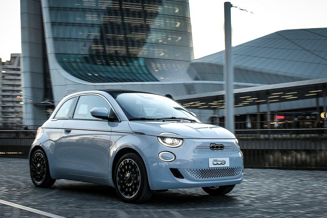 轉變成純電小車的第三代Fiat 500。 摘自Fiat