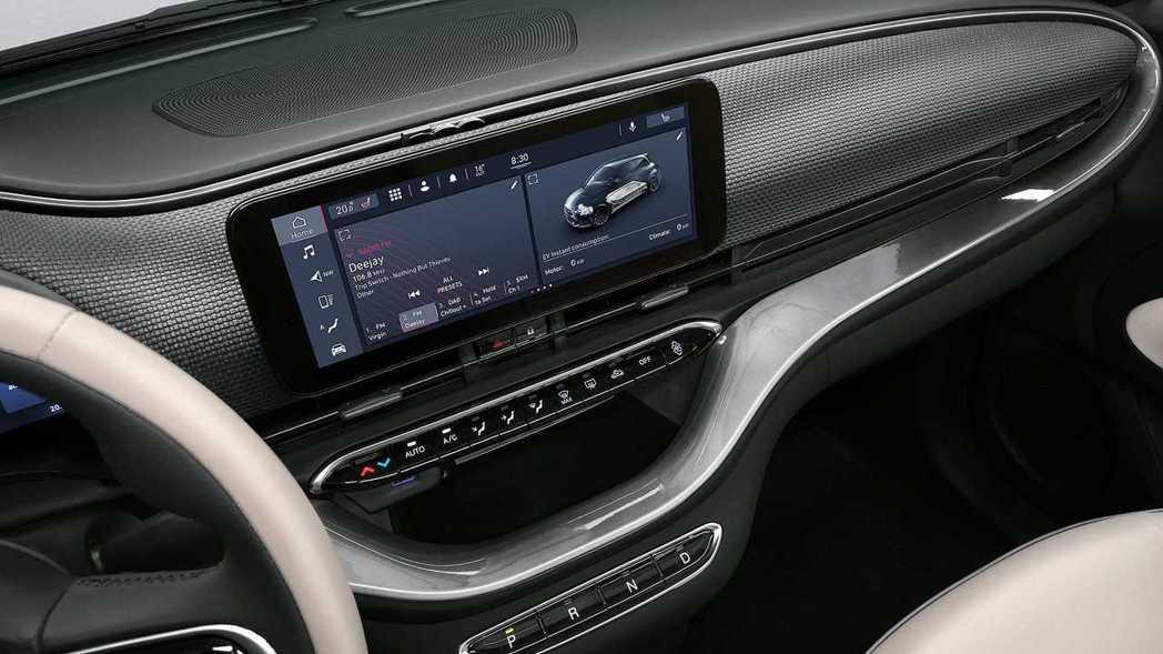 第三代Fiat 500車內配置了10.25吋觸控式螢幕。 摘自Fiat
