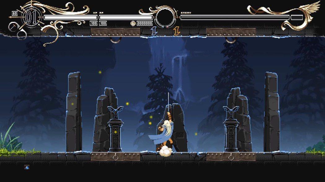 主角的動作相當流暢,武器的攻擊方向不限於水平,可以往斜上方以及正上方攻擊。