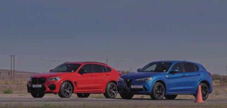 影/德義開戰了!BMW X4 M Competition對決Alfa Romeo Stelvio Quadrifoglio!