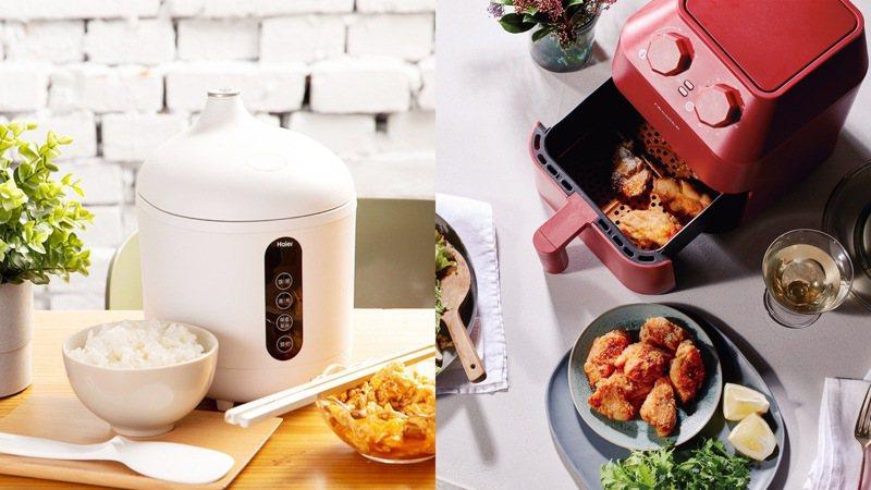 日本宅經濟大熱,帶動自煮料理熱潮,小巧的廚房家電最受青睞。圖/台隆手創館提供
