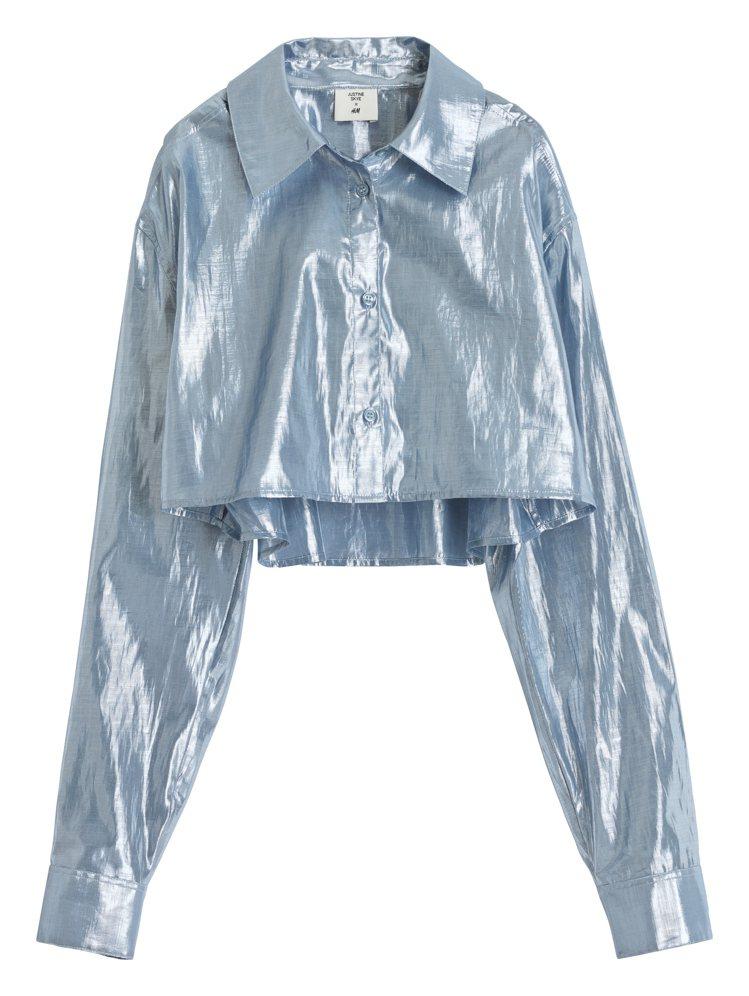 H&M的Justine Skye聯名系列露肚上衣799元。圖/H&...