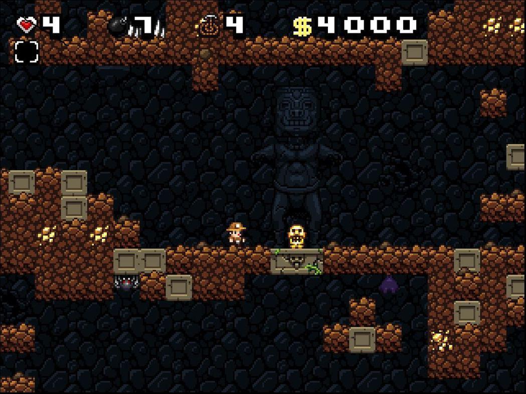 《Spelunky》是2D平台動作遊戲,玩家的目的是在一層層地底洞窟中收集財寶、...