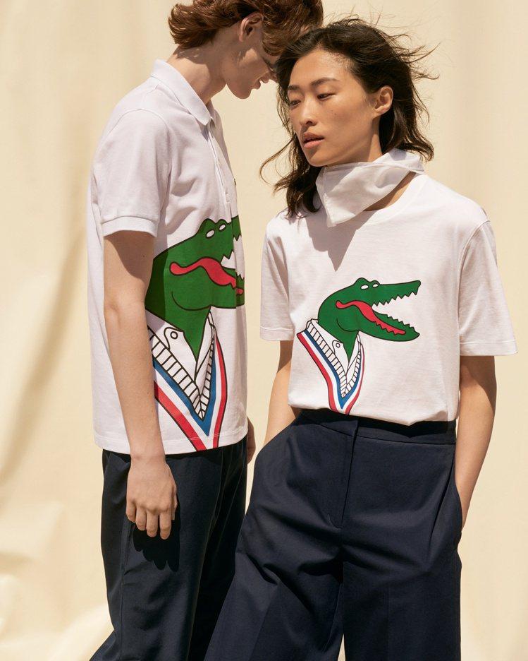 LACOSTE X JJean-Michel Tixier的巴黎鱷魚臉超幽默。圖...