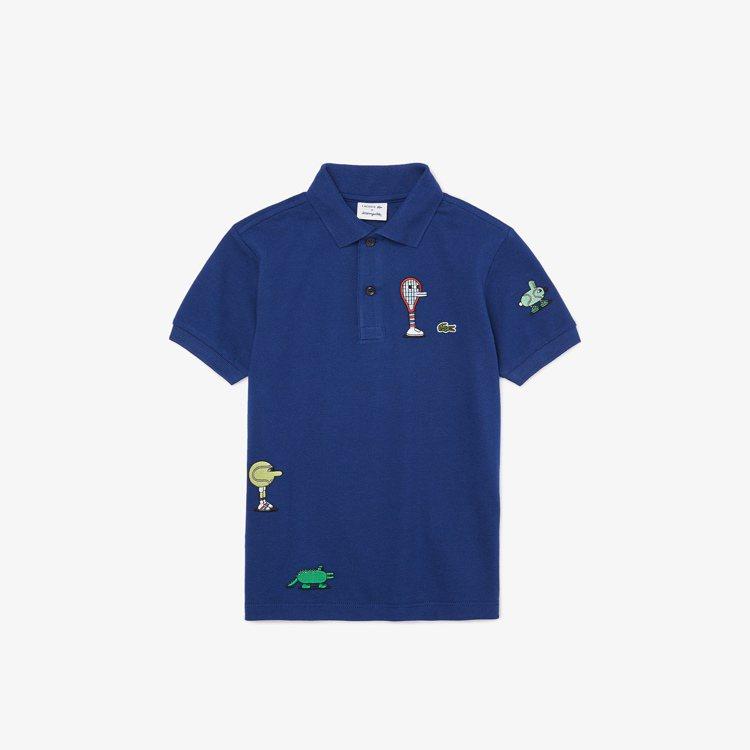 LACOSTE X Jeremyville 寶藍色Polo衫,售價2,580元。...