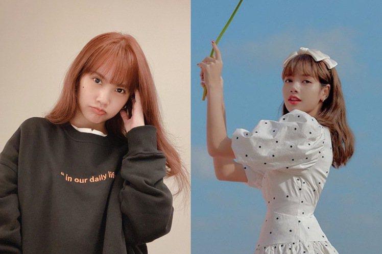 從楊丞琳到BLACKPINK的Lisa,都愛上焦糖髮色。圖/摘自IG