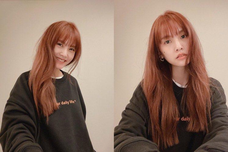 楊丞琳新染了焦糖橘棕的髮色,充滿減齡感。圖/摘自IG