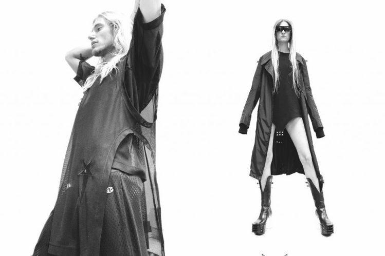 暗黑風格教主的Rick Owens與Champion推出性感辣裝。圖/摘自www...