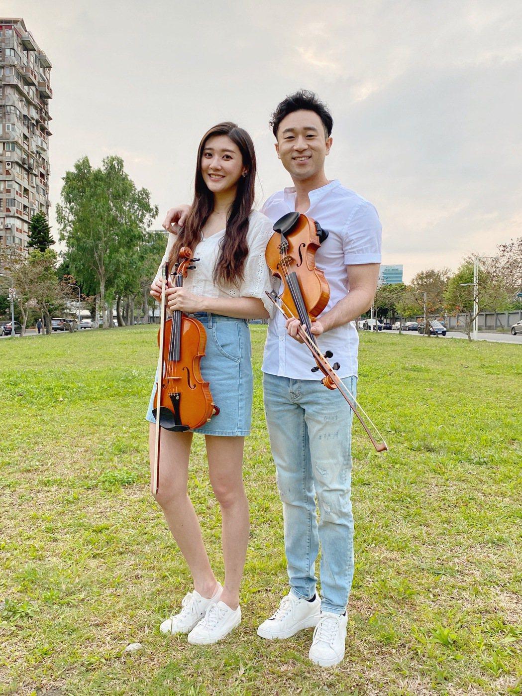 林逸欣(左)連續3年跟網紅歌手Sam Lin合作。圖/旋轉娛樂提供