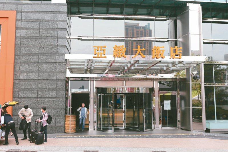 台中亞緻大飯店本月九日起停止營業。 本報資料照