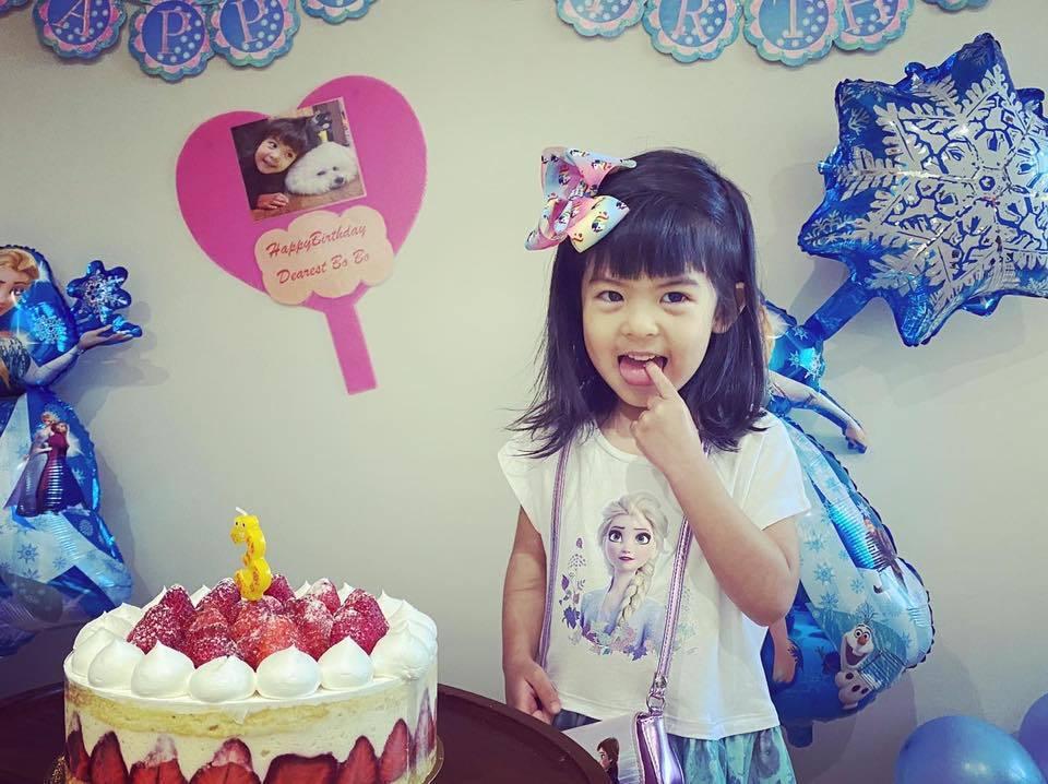 Bo妞度過3歲生日。圖/摘自臉書