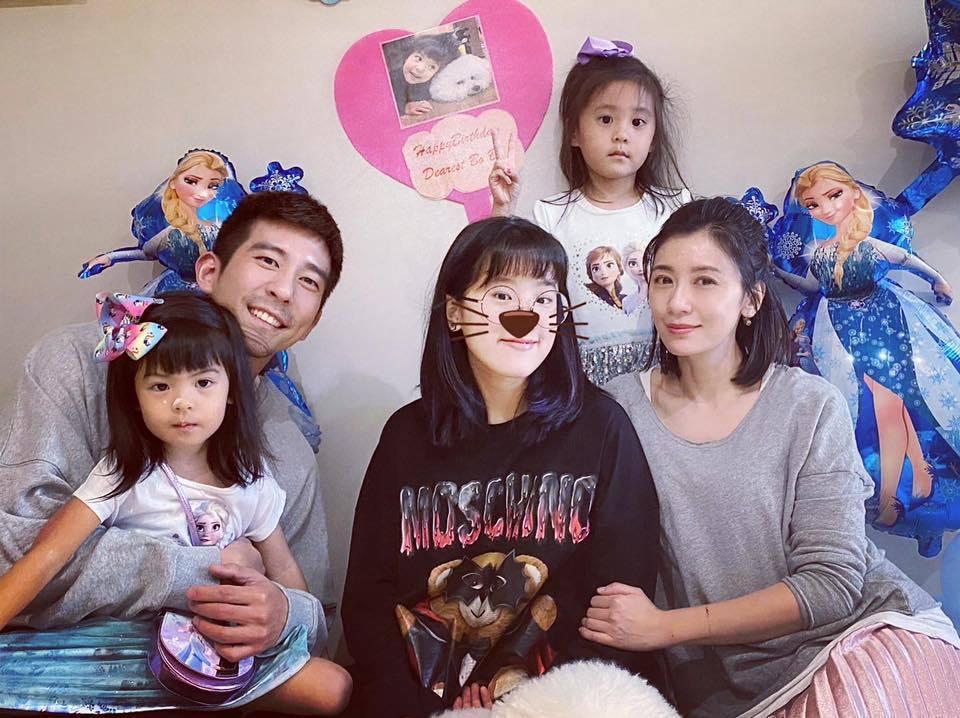 賈靜雯一家人替Bo妞慶生。圖/摘自臉書