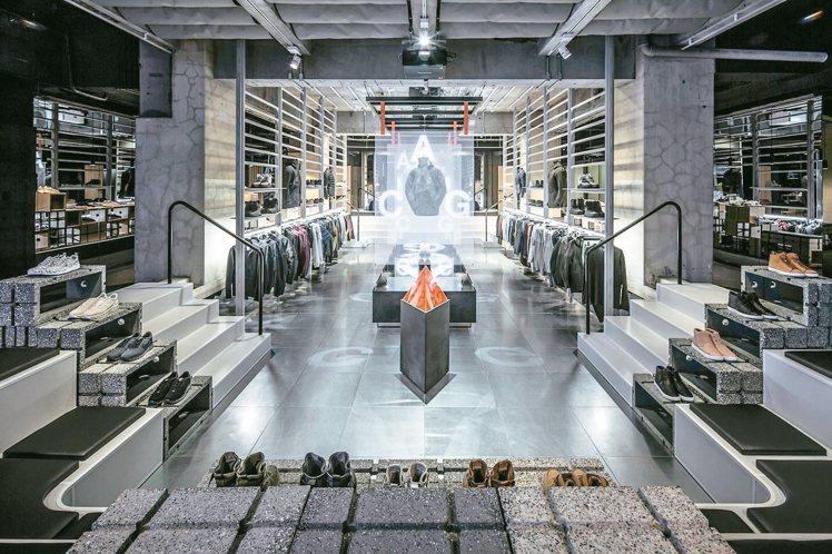 「小智研發」為NIKE東京分店設計的室內空間。 圖/小智研發提供