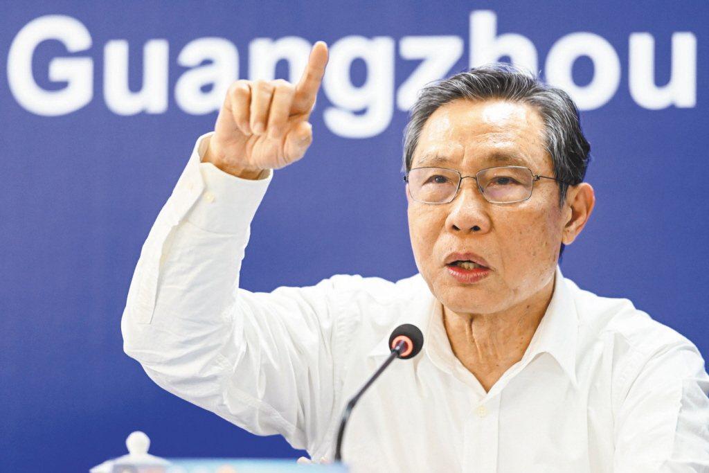 中國大陸國家衛健委高級別專家組組長鍾南山。 中新社