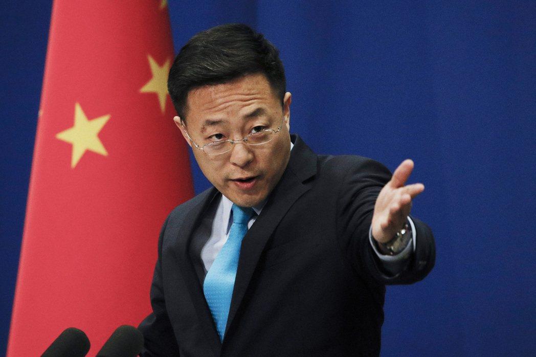 中共外交部新任發言人趙立堅,在推特公開指稱新型冠狀病毒可能由美軍帶至武漢。 圖/美聯社