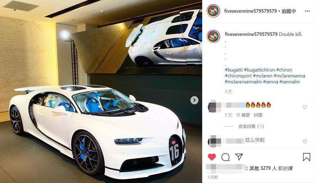 Bugatti Chiron Sport在永三汽車的展間準備交車。 摘自IG:@...