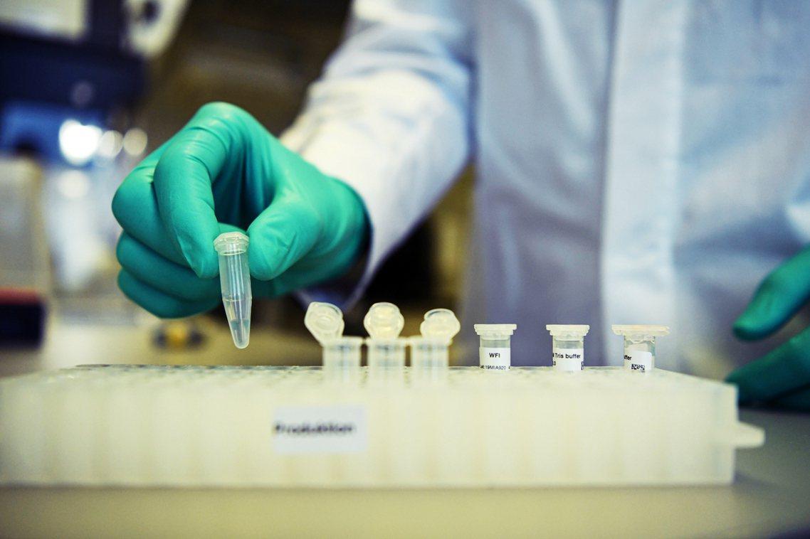 圖為CureVac正在進行中的新型冠狀病毒疫苗開發。 圖/路透社