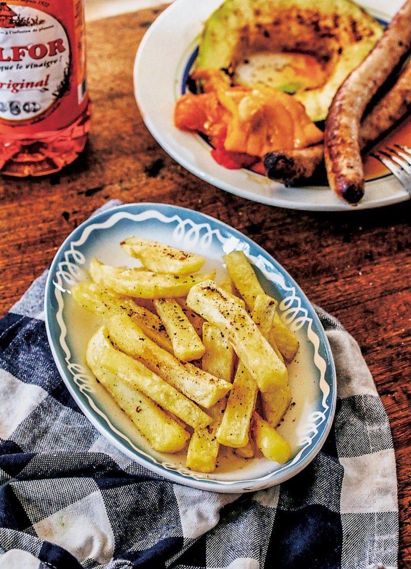 美味的北法炸薯條深受大小朋友歡迎。 圖/幸福文化 提供