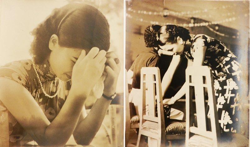 1930年代台灣摩登女性照片,攝於舊香居「藝空間」。 圖/作者提供