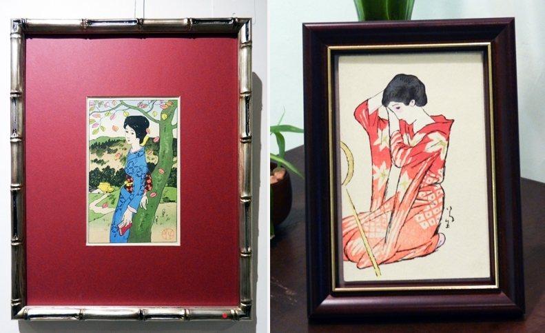 竹久夢二著名的「美人畫」,攝於舊香居「藝空間」。 圖/作者提供