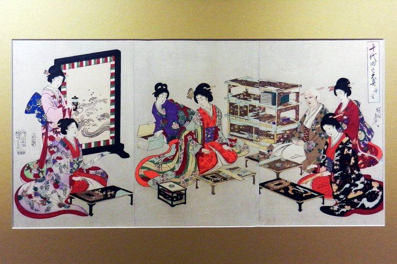 楊洲周延《千代田之大奧》,攝於舊香居「藝空間」。 圖/作者提供
