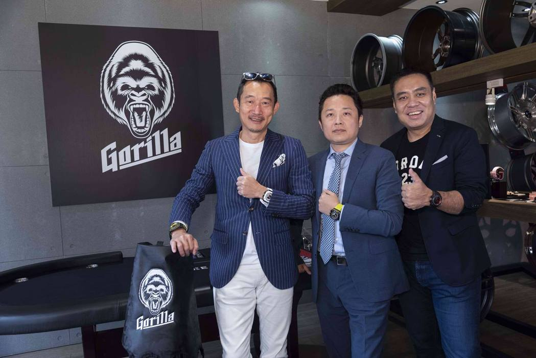 Gorilla亞太區品牌總監Go Mugino(左起)、三一國際執行長陳睿謙與G...