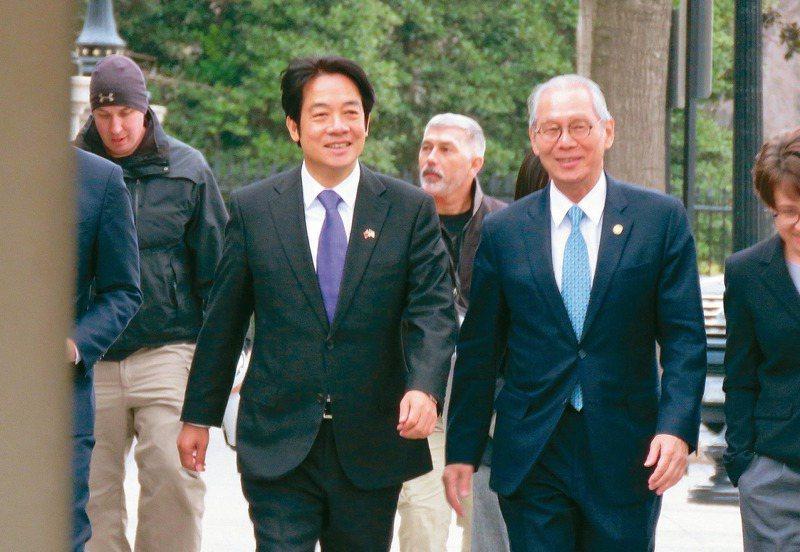 副總統當選人賴清德(前左)2月初赴美訪問,備受關注。圖/聯合報系資料照片