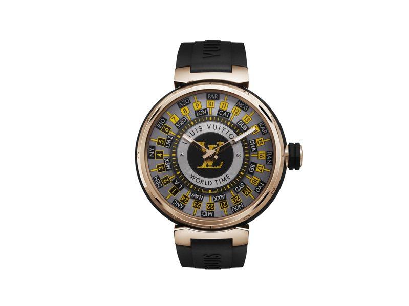 路易威登Tambour World Time Runway腕表,122萬元。圖/路易威登提供
