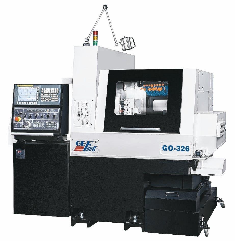 GO-326多功能走心櫛式CNC精密車床是高精密的多功能8軸加工設備。 錡夆/提...