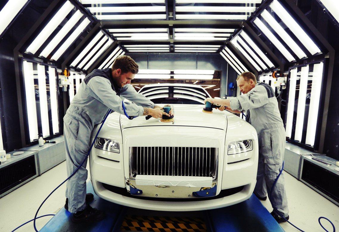 勞斯萊斯英國工廠,資料照片。 圖/路透社