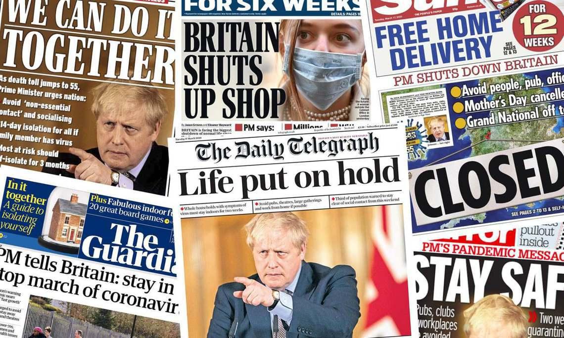 強生坦承:英國當前的疫情趨勢「離義大利的崩潰現況...只剩下3個星期的時間」。 ...